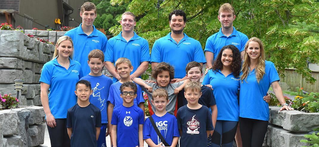 group photo of gymnast team