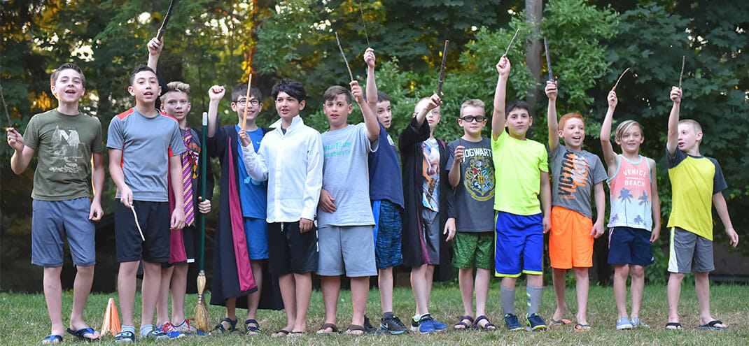 kids with wands
