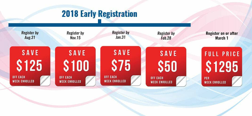 2018 early registration summer camp