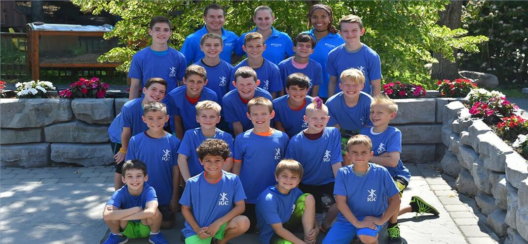 boys at international gymnastics camp