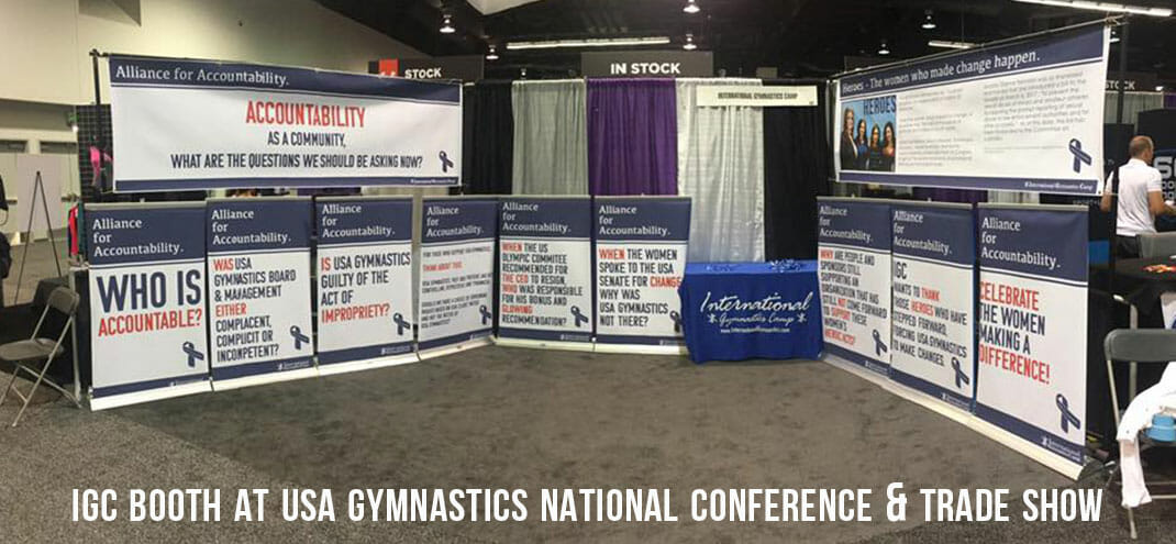 IGC Booth at USA Gymnastics National Congress & Trade Show