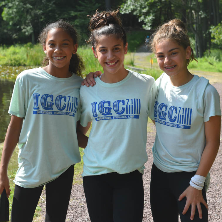 three female campers at igc