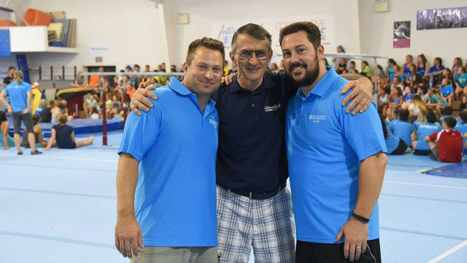 Brent, Coach Constantin, and another camp director