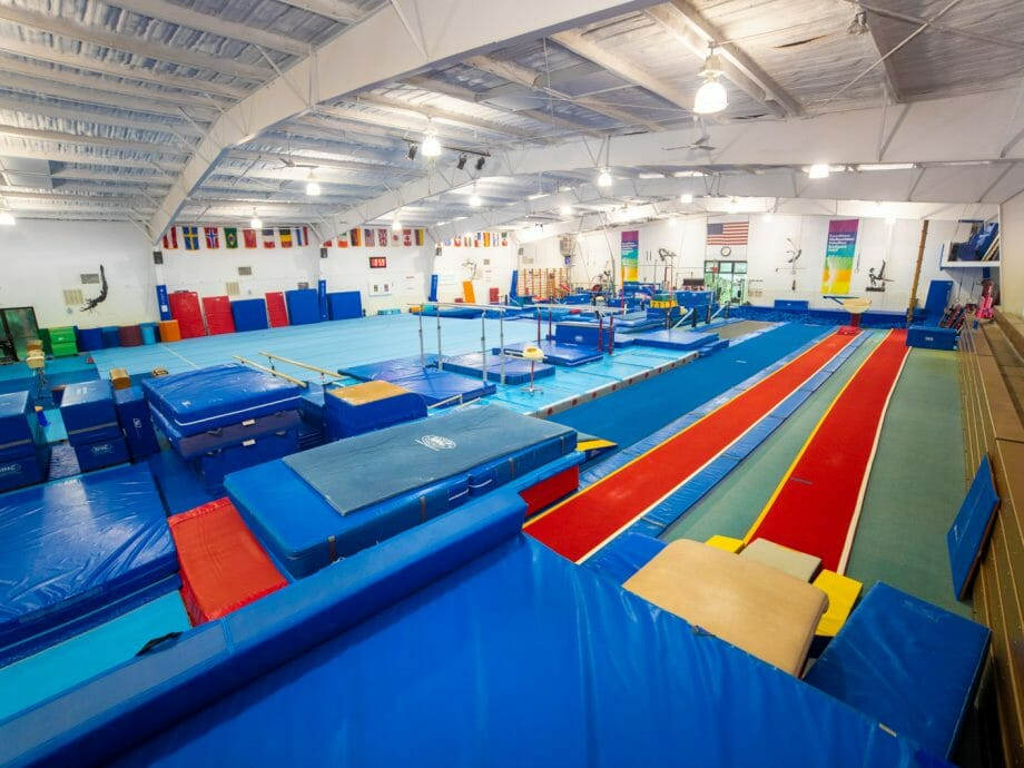 olympic gymnast training gym