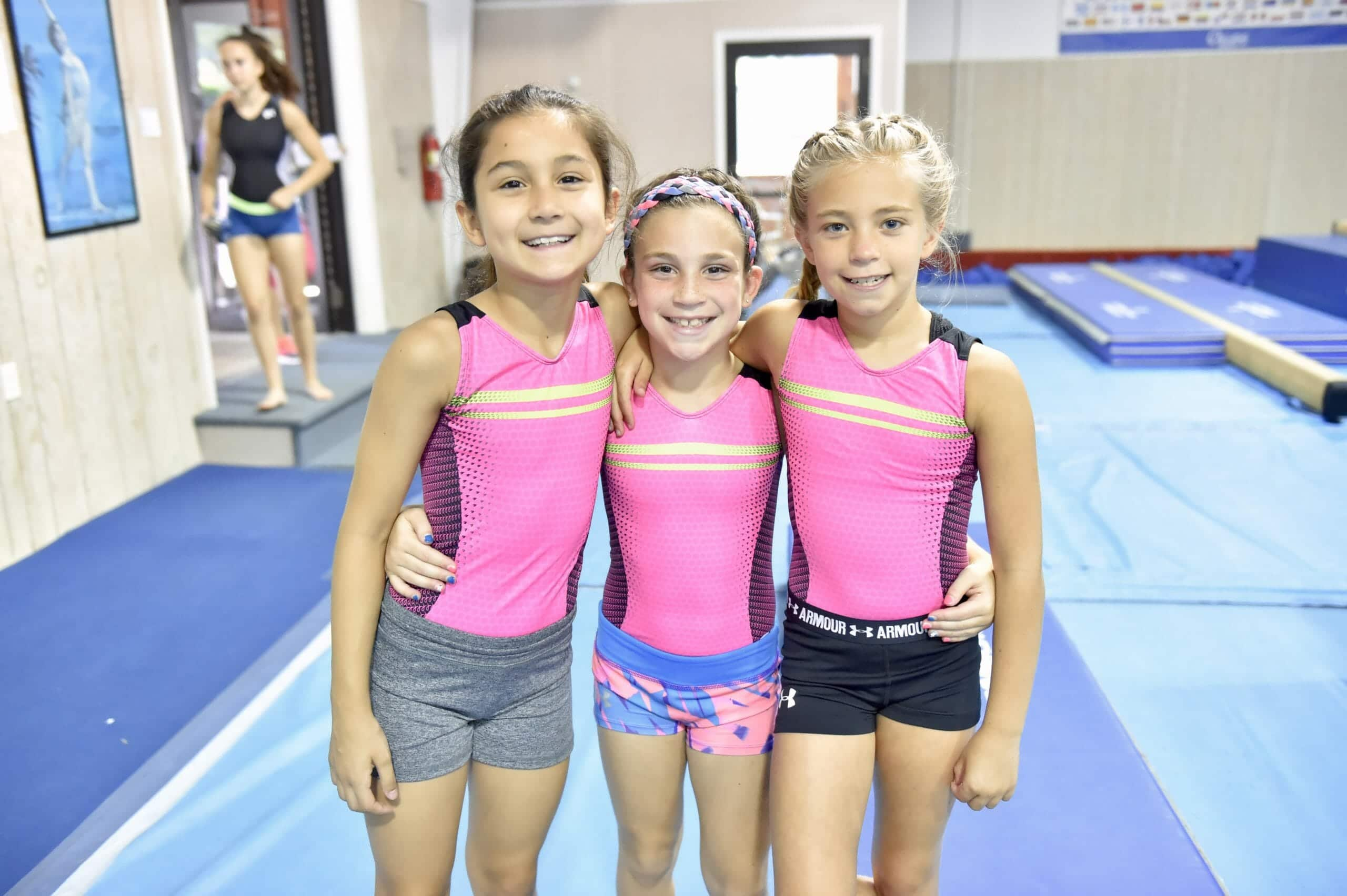 young female gymnasts